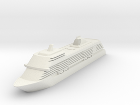 1:1250 Seven Seas Explorer - Hollowed in White Natural Versatile Plastic: 1:1250
