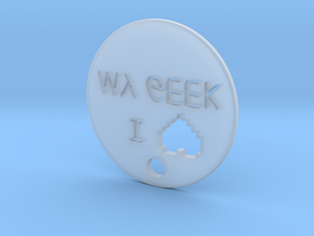 I love my geek pendant in Smooth Fine Detail Plastic