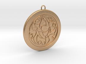 Tribal Design Pendant in Natural Bronze