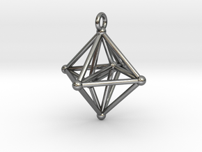 Hyperoctahedron Pendant in Polished Silver