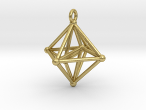 Hyperoctahedron Pendant in Natural Brass