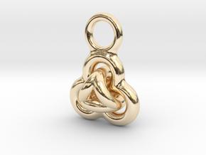 Interlocked Rings earring in 14K Yellow Gold