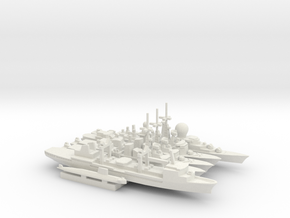 French Carrier Escort Group (1990s), 1/2400 in White Natural Versatile Plastic