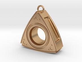 Mazda Rotary Engine Rotor Earring in Natural Bronze