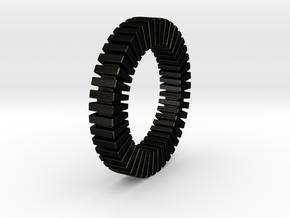 Patrick Tetragon - Ring in Matte Black Steel: 1.75 / -