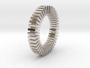 Patrick Tetragon - Ring in Rhodium Plated Brass: 1.75 / -
