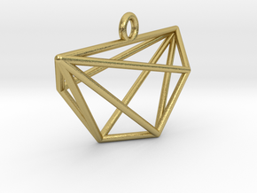 Minimalist Cyclic Polytope Pendant in Natural Brass