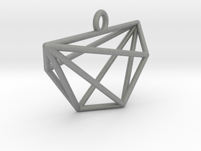 Minimalist Cyclic Polytope Pendant in Gray PA12