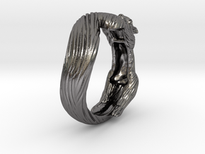 Squirrel Ring in Polished Nickel Steel: 5 / 49