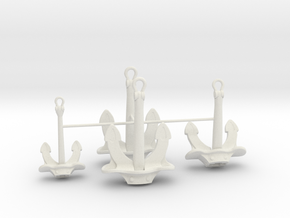 1/128 DKM Bismarck Anchor Set in White Natural Versatile Plastic