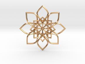Hypatia's Flower Pendant in Polished Bronze