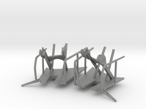 1/96 Bismarck Crane Storage Brackets Set in Gray Professional Plastic