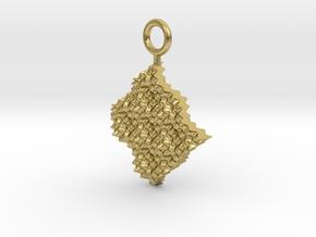 cosine x cosine ripple waves earring in Natural Brass