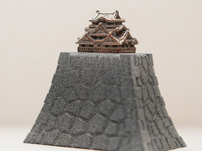 Ring Stand of Hikone Japanese Castle  in Gray Professional Plastic