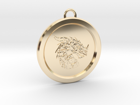 Pendragon Pendant in 14k Gold Plated Brass