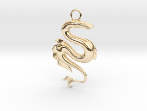 Lamprey Pendant in 14K Yellow Gold