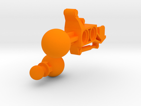 Articulated Mata Arm 1 in Orange Processed Versatile Plastic