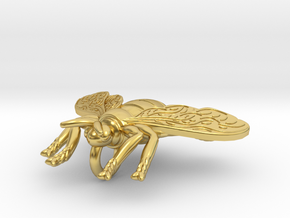 BEE Pendant in Polished Brass