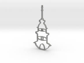 Tower Necklace-46 in Gray Professional Plastic