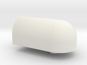 1/12 Lower Pillow Ball Holder in White Natural Versatile Plastic