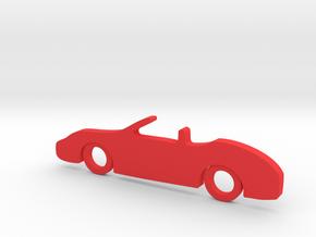 Classic Car Necklace-56 in Red Processed Versatile Plastic