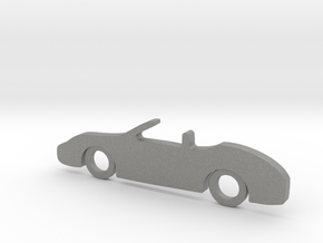 Classic Car Necklace-56 in Gray Professional Plastic