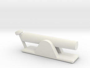 NAVAL CANNON in White Natural Versatile Plastic