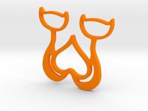 Cads Necklace-38 in Orange Processed Versatile Plastic