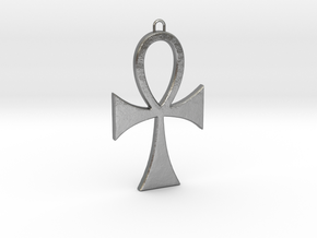 Ankh-5 in Natural Silver