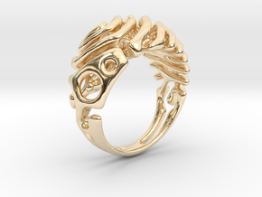 "Ring ""Wave"" in 14K Yellow Gold"