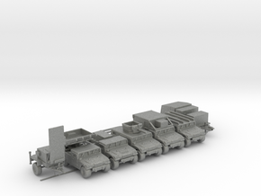 S.L.A.A.M. PLATOON Mobile Ground to Air Humvees. in Gray Professional Plastic