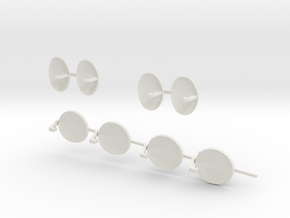 Sat-dish O scale in White Natural Versatile Plastic