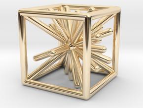 Wire Die in 14k Gold Plated Brass
