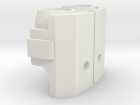 Miner Megatron Shoulders  in White Natural Versatile Plastic