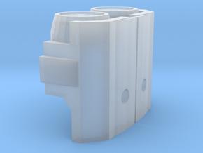 Miner Megatron Shoulders  in Smooth Fine Detail Plastic