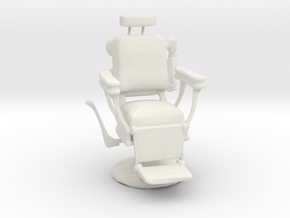 Printle Thing Barber Chair - 1/24 in White Natural Versatile Plastic