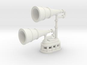 1/100 IJN Yamato type 22 Surface Search Radar Horn in White Natural Versatile Plastic