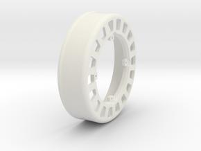 JRC-339 2.2 BEADLOCK WHEEL INNER in White Natural Versatile Plastic