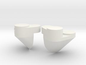 1/100 Yamatosuperstructures part3 in White Natural Versatile Plastic