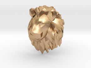 Lion Pendant in Natural Bronze