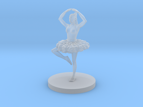 Female Ballerina in Smooth Fine Detail Plastic