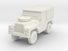 15mm 1:100th scale Airborne 1/2 Ton Landrover in White Natural Versatile Plastic