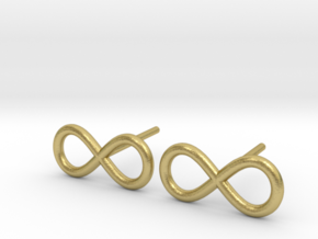 Infinity Earrings in Natural Brass (Interlocking Parts)