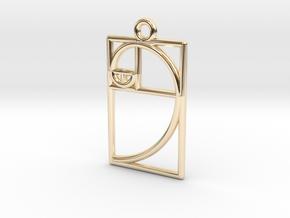 Golden Ratio Pendant in 14k Gold Plated Brass