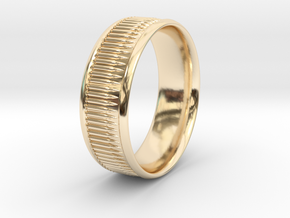 Bullet Belt Ring - multiple sizes available in 14k Gold Plated Brass: 5 / 49