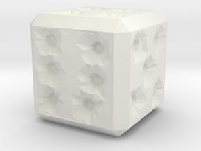 Bullet Hole Die in White Natural Versatile Plastic