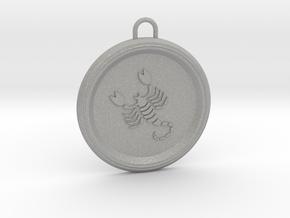 scorpio-pendant in Aluminum