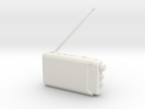 Printle Thing Portable radio - 1/24 in White Natural Versatile Plastic