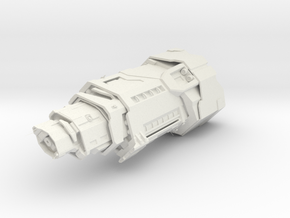 UNSC HALCYON CRUISER in White Natural Versatile Plastic