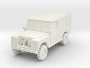 15mm 1:100th scale Landrover Hull series 3  LWB in White Natural Versatile Plastic
